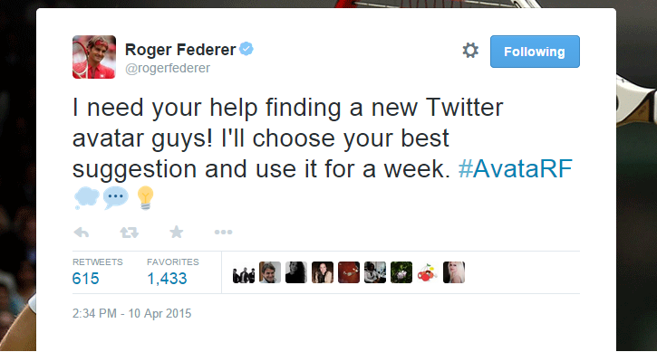 Roger looking for a new avatar