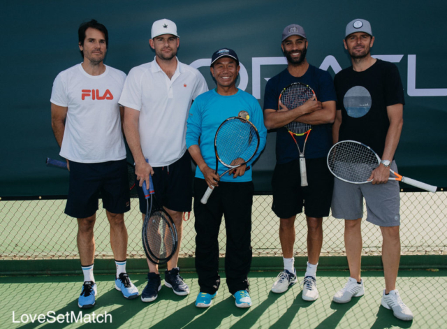 Coach PK with Pros Tommy Haas, Andy Roddick, James Blake & Marty Fish